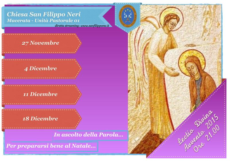 Lectio Divina Avvento 2015 - Unità Pastorale 01