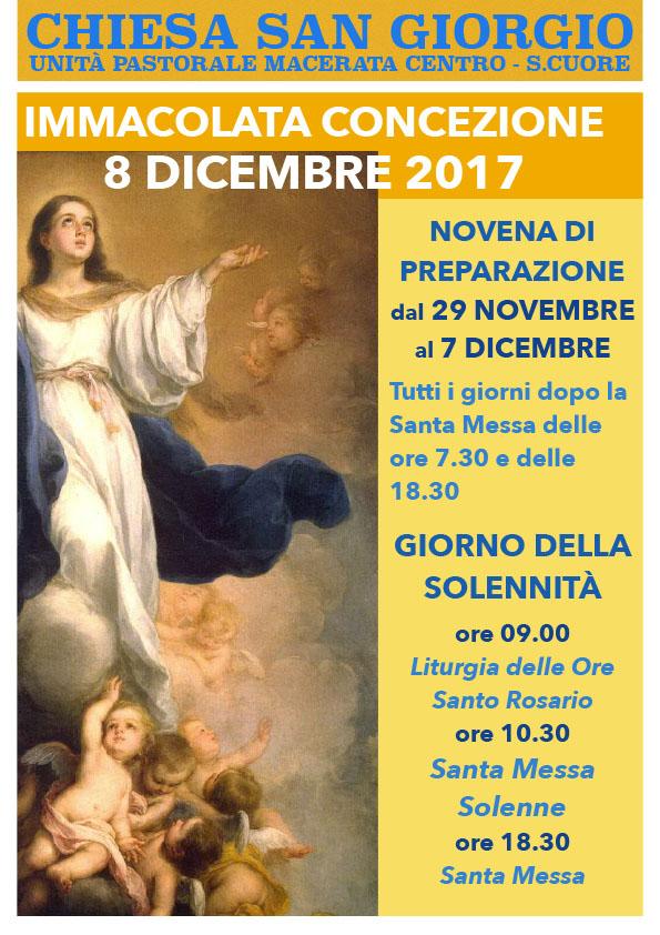8 dicembre: Festa dell'Immacolata Concezione