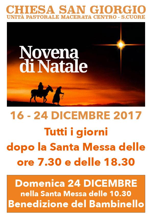 16-24 dicembre: Novena di Natale